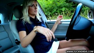 Refill that wet crack, Alexa is a fabulous blond with a booming body. Alexa was killing time teasing herself, so it was a great surprise for the fellow to discover a stripped blond in the car when this guy came back!