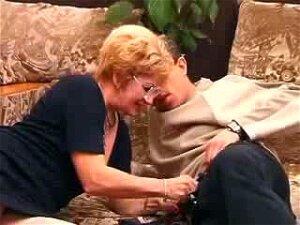 Granny Satisfies A Boy, Creampie Porn