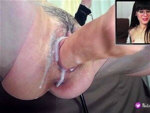 Sex Machine Fucking My Creamy Pussy,When I Watching Porn Porn