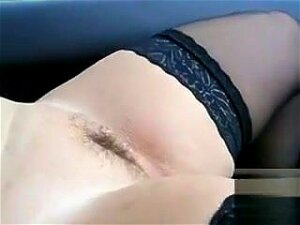 Black Stockings Cling To Her Wide Open Legs As A Stranger Stands Outside The Car And Masturbates To My Sweetie. She Pulls Up Her Skirt To Show Off Her Breasts While He Continues To Stroke. Porn