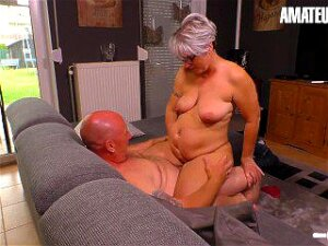 AmateurEuro - Chubby Mature German Wife Rides Cock While Husband Works Porn