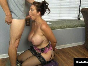 Horny Husband's Employer Gets Milf Charlee Chase To Suck His Hard Cock! Porn