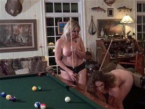 Horny Lesbian Swingers Shooting Pool And Licking Each Others Wet Pussies Porn