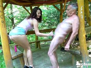 Teasing Grandpa's Dirty Old Cock Porn