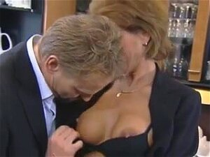 His Compliments Made This German Granny In Stockings Horny, Porn