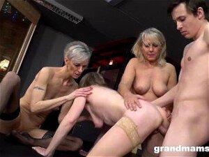 Three Mature Cougars Devour Innocent Boy Porn