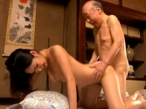 Erotic Japanese Women Sex With A Bald Old Man Creampie It Feels Good Porn