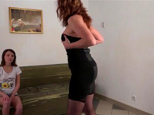 Horny Old And Young Lesbians Make Out On The Couch - MatureNL Porn