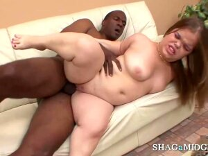 Horny Midget Babe Gets To Suck And Fuck Big Black Cock With Cum In Mouth Towards The End Porn