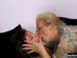 Some Grannies Are All About That Action, And Mildred Is One Of Them. Shes Always Got A Hot College Girl Over For The Night, And This Time Its A Freshman Named Tiffiny With Punky Hair In Different Colors And A Big Curiosity To Lick The Vagina Of An Older W Porn