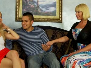 Amateur Threesome Fun With A Greedy Stepmom Porn
