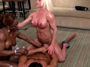 Ashlee Chambers And Ashley Starr Tease Lucky Guy. Porn