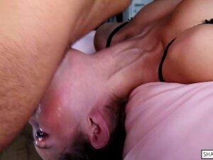 Sloppy Upside Down Throat Fuck   Balls Deep Facefucking - Shaiden Rogue Porn
