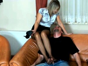 Sultry Blonde Milf In Pantyhose Delivers A Special Handjob Porn