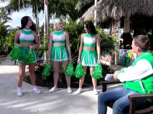 Cheerleader Fuck Fest With Sexy Babes Porn