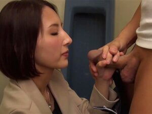 Asian Rina Nanase Gives A Blowjob And Gets Cum In Mouth In Toilet Porn