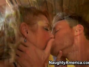 Milf Samantha Professionally Makes A Blowjob With Her Enormously Big Hooters, She Quaff A Big Dick Of A Young Boy Levi. She Likes This And Then He Licks Her Pussy Very Long And Carefully. Porn