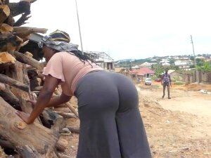 Ebony With A Huge Ass Came For Firewood Porn