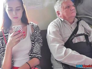 Exciting Young Babe With Cute Face, Long Legs And Flabby Ass Can Become A Cover Girl, But Gets In An Upskirt Video. Porn