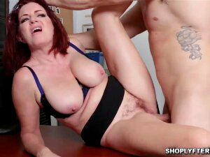 Redheaded MILF Andi Got A Sticky Load On Her Big Tits Porn