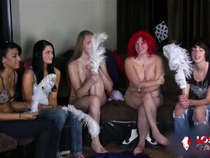 6 Cuties Playing A Game Of Disrobe-roulette? Things Are Tied To Get Wild! See As The College Women Lose One Piece Of Garments After Some Other As They Proceed Rolling The Dice. The Torture Is ... Porn
