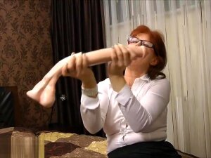 Dirty Secretary Fucking Her Asshole With A Brutal Horse Cock Dildo In HD Porn