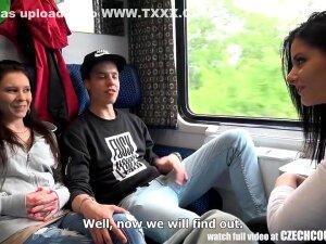 Foursome Sex In Public Train Porn