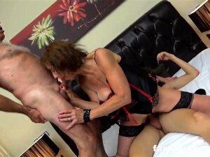 Pounded Up Daddy And Stepson Shagging An Elder Mega-Slut Porn