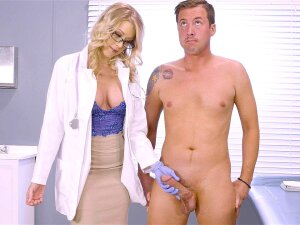 Doctor Katie Morgan Dropped On Her Knees And Started Sucking Porn