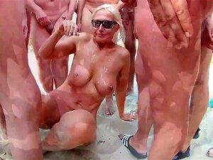 Sexy Nudist Exhibitionist Who Loves Being Showered In Cum Porn