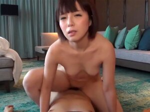 Japanese Housewife Likes To Ride Dick In A Cowgirl Position, While Her Husband Is Out Of Town Porn