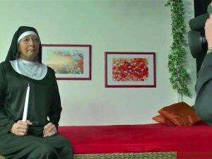 Mature Nun Gives Into Temptation. Porn