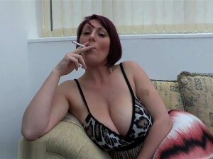 Busty MILF Lexi Smoke And Tease Porn