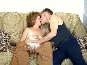 I Am Much Younger Than Her Husband So She Dreamed About Sex With Me On The Couch. I Licked Her Hairy Pussy And In Doggy And Missionary Style Positions After Blowjob. Porn