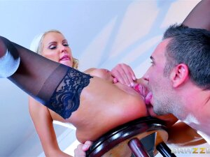 Stockinged Kenzie Taylor Licked And Ass Fucked With Zest Porn