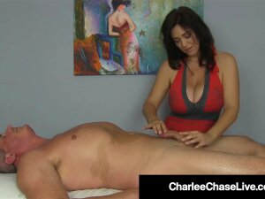 Happy Ending With Busty Milf Charlee Chase & Handjob Heaven! Porn