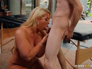 Alura Jenson Continues Her Massage While Drooling Cum From Her Mouth Porn
