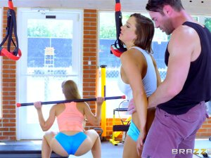 Brazzers HD: Gym And Juice With Abigail Mac And Nicole Aniston Porn