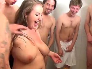 Fat Team Fuck. Precious Obese Beauty Getting Pounded By A Soccer Team. Porn