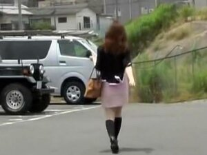 Brisk Marvelous Japanese Hoe Is So Careless While Slowly Walking Outside, So No Wonder She.s The Easy Target For Some Kinky Guy Who.s Watching Her Near By, And Then He Grabs Her Outfit And Reveals Her Goodies, While She.s Very Confused. Porn