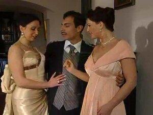 ITALIAN FFM - Erika, Jessica & Large Jock, Erika Neri, Jessica Fiorentino And Some Large-cocked Lad Porn