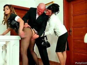 Maid In Tight Black Latex Dress Is Wicked Sexy Porn