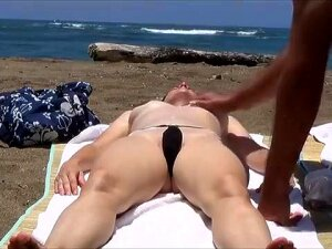 She Wears This Skimpy Bikini To The Beach To Arouse Me And I Love Applying Sunscreen To Her Body. She Ends Up Getting Horny, Which Is When She Wants Me To Rub Her Vulva. Porn