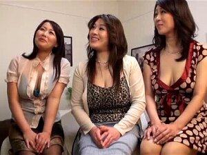 Three Japanese MILFs Having Wild CFNM Sex With One Guy Porn