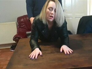 Wife Pounded Hard With A Big Orgasm Over Table Porn