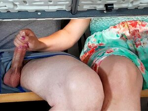 Step Mom Gives Son Unwanted Handjob At Beachside Cafe Under Table. Porn