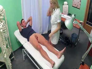 Nurse Has To Work On Valentines Day Stud Comes In Hospital For Balls Inspection And Gets His Cock Sucked And Then Fucks The Nurse On Examination Table Porn