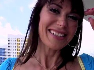 Hot Cougar,Eva Karera Shows Off Her Big Juicy Tits For The Camera And Horny Stud. Porn