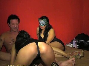 Group Of Crazy Wives Participates In Amateur Orgy Porn