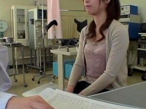 Skinny Jap Babe Gets Banged With A Dildo During Gyno Exam, Skinny And Very Pretty Japanese Babe Gets Dicked Hard By Her Doctor.s Strapon Dick During The Pussy Exam And It Looks Very Hot. The Entire Process Is Filmed In This Spy Cam Medical Fetish Video. Porn